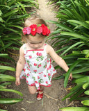 Strawberry Tank Romper