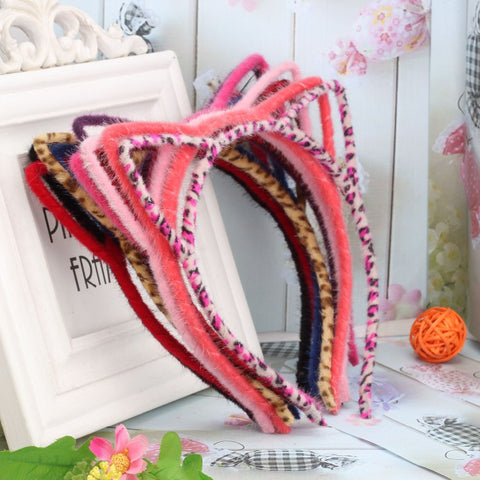 Furry Cat Ear Headband