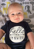 """Hello, I'm New Here"" Onsie"