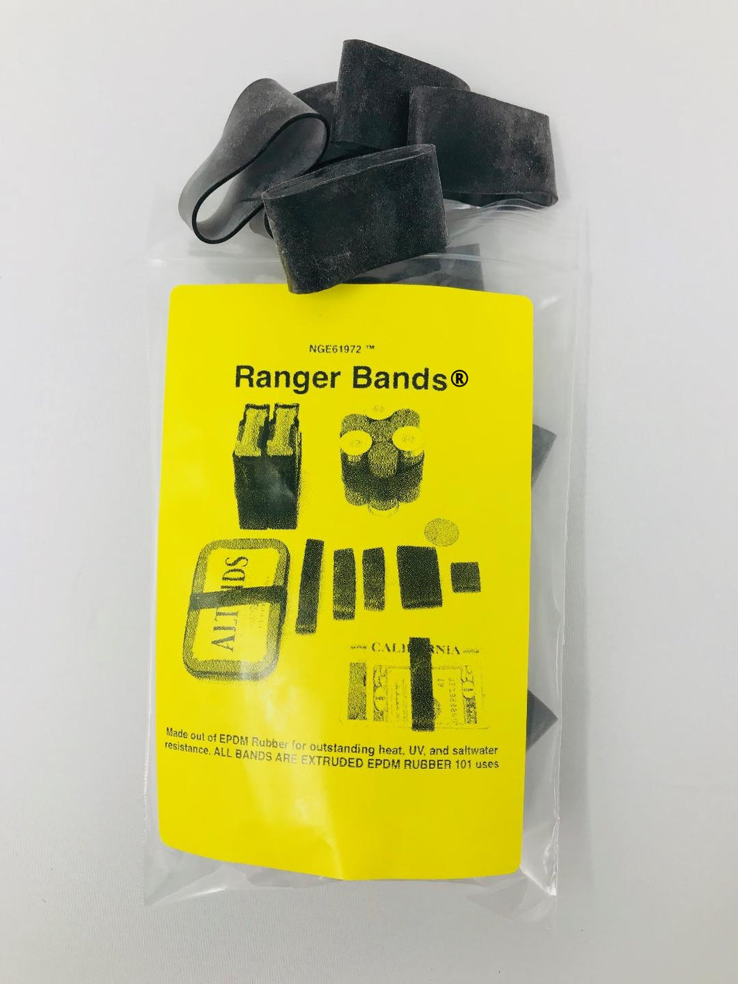 Ranger Bands® Medium Wide 48 Count Made from EPDM Rubber for Survival, Emergency Tinder and Strapping Gear of Various Sizes Made in the USA NGE61972