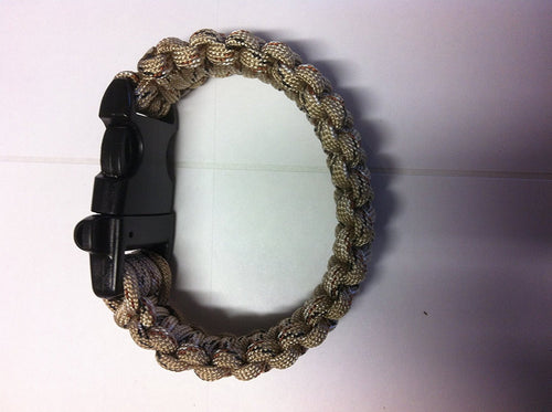 Paracord Bracelet/ Whistle the Ultimate Survival Band! Over 9 Feet of Paracord  Universal Camouflage