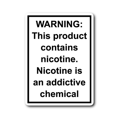 FDA WARNING Sticker