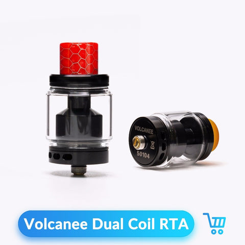 Volcanee Dual Coil RTA Atomizer Tank 24mm