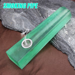 Green Melting Stone Natural Crystal Pipe