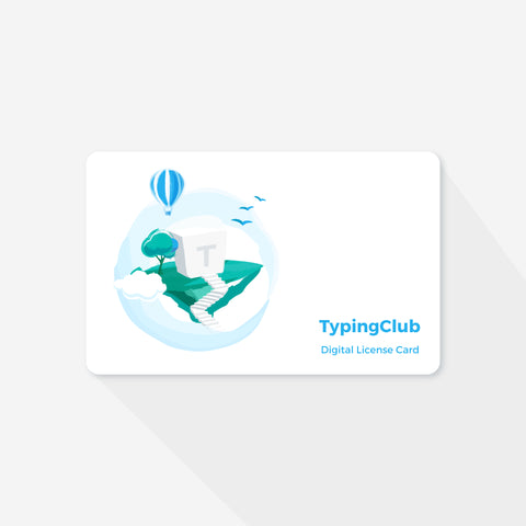 Digital Version - TypingClub Individual Edition Gift Card (1 Year Subscription)