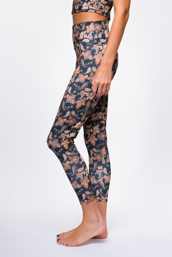 Onzie Golden Paisley Yoga Leggings