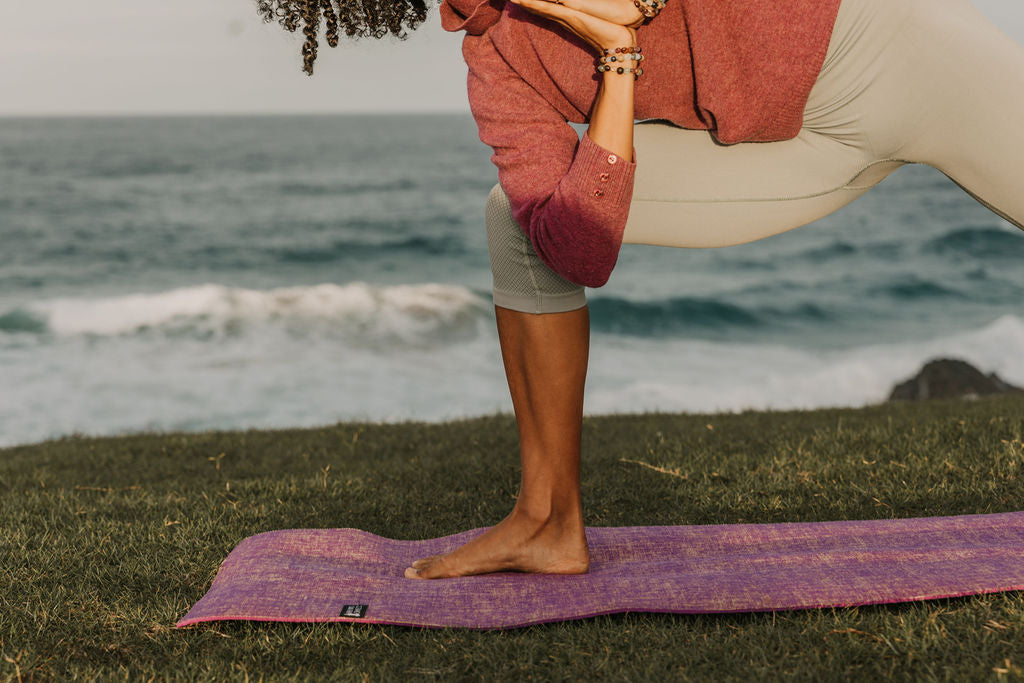 Body Mind Connect Yoga Mat- Purple