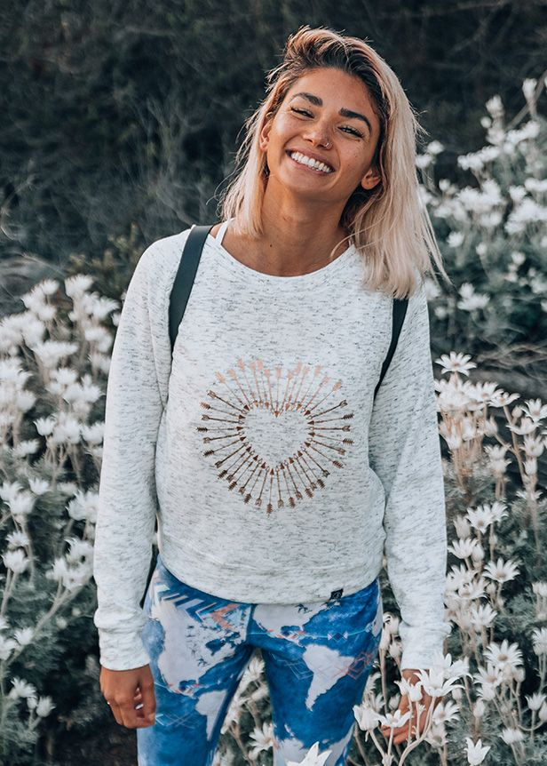 Free Spirit- Shot To The Heart Sweater