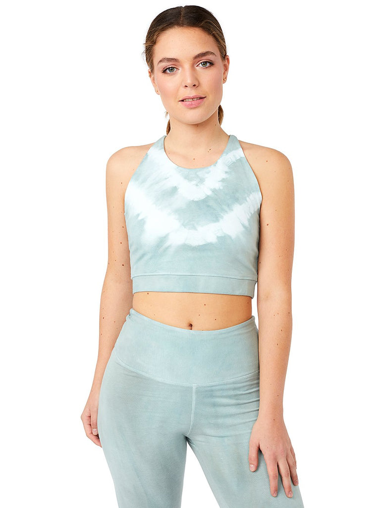 Mandala Yoga Wear - Sage Batik Crop Top