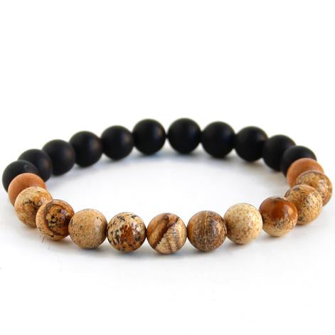 Inhale Strength Men's Mala Wrist Bracelet