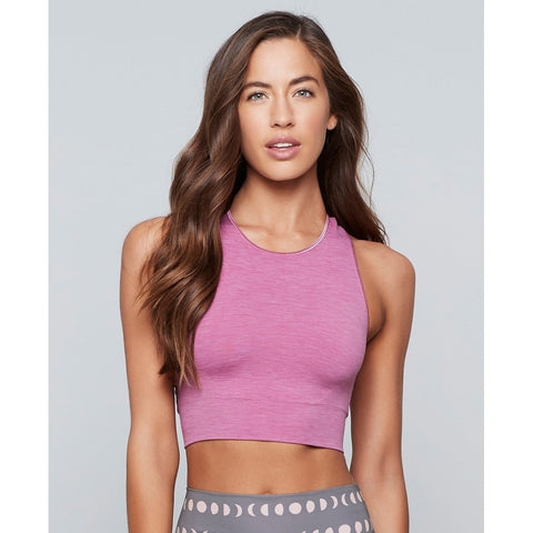 Moon Child Seamless Yoga  Crop Top- Heather Rose