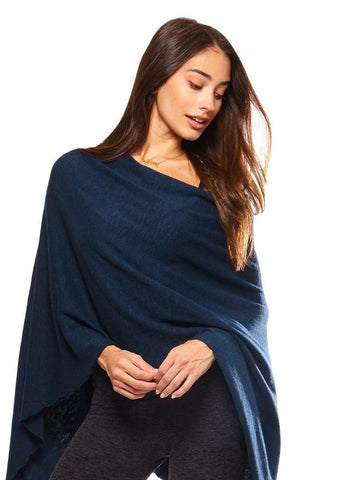 Be Love - Ruana Poncho Northern Blue Long Sleeves Be Love Apparel