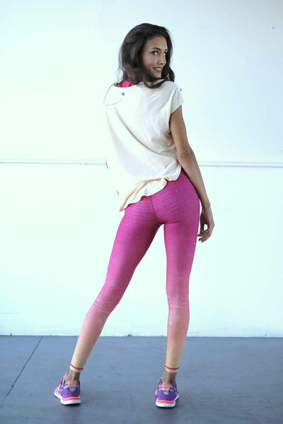 NiyamaSOL Tequila Sunrise Ombre Yoga Leggings Leggings NiyamaSOL