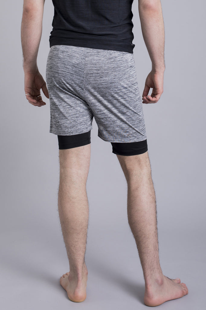 Ohmme 2-Dogs Lined Men's Yoga Shorts Shorts Ohmme