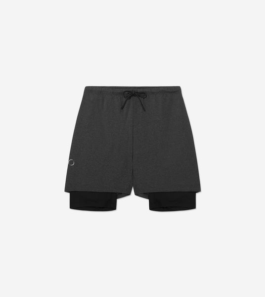 Ohmme 2-Dogs Men's Yoga Shorts Graphite Shorts Ohmme