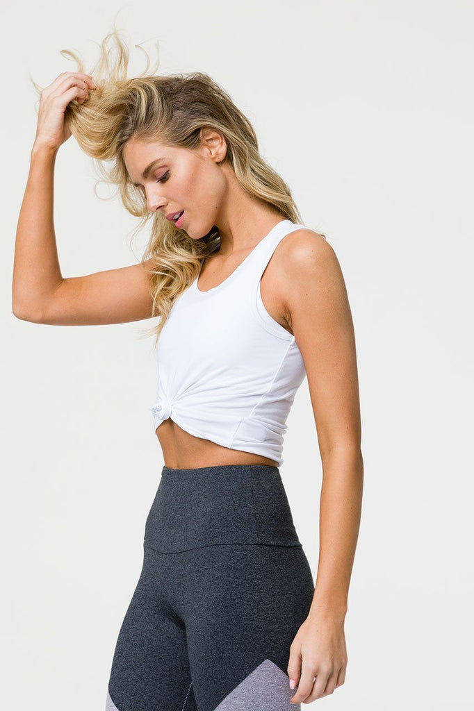 Onzie Yoga Crop Top- White Tanks Onzie