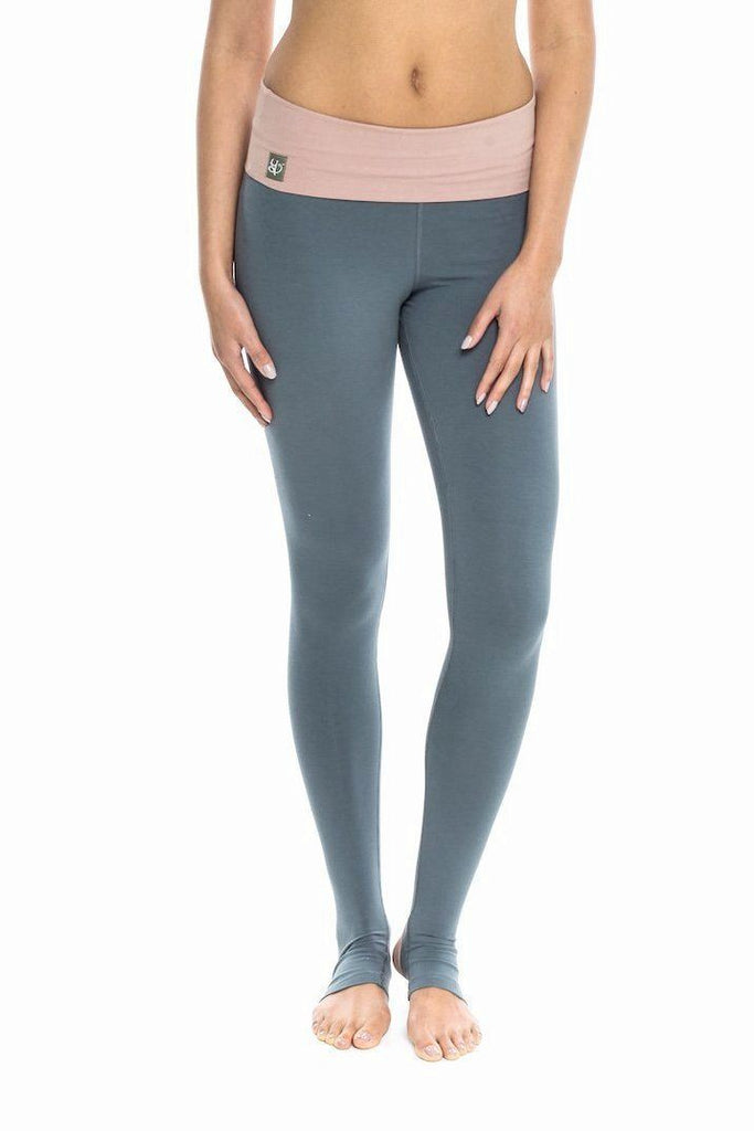Satya 'Saraswati' Stirrup Yoga Pants Leggings Satya Yoga Wear S Dusty Pink/Grey