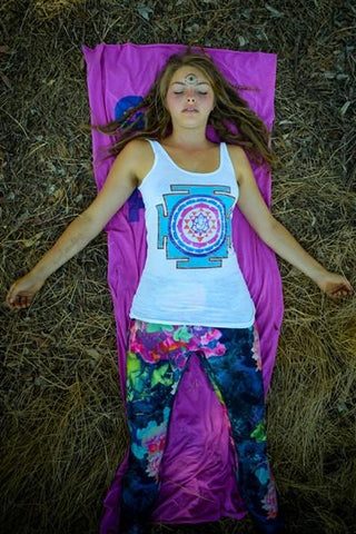 Third Eye Threads - Santa Fe Sri Yantra Burnout Tank Tanks Third Eye Threads