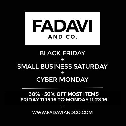 Black Friday, Small Business Saturday, & Cyber Monday sale!