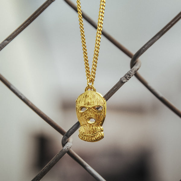 Ski Mask Chain (Gold)