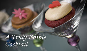 A Truly Edible Cocktail photo cupcake in martini glass