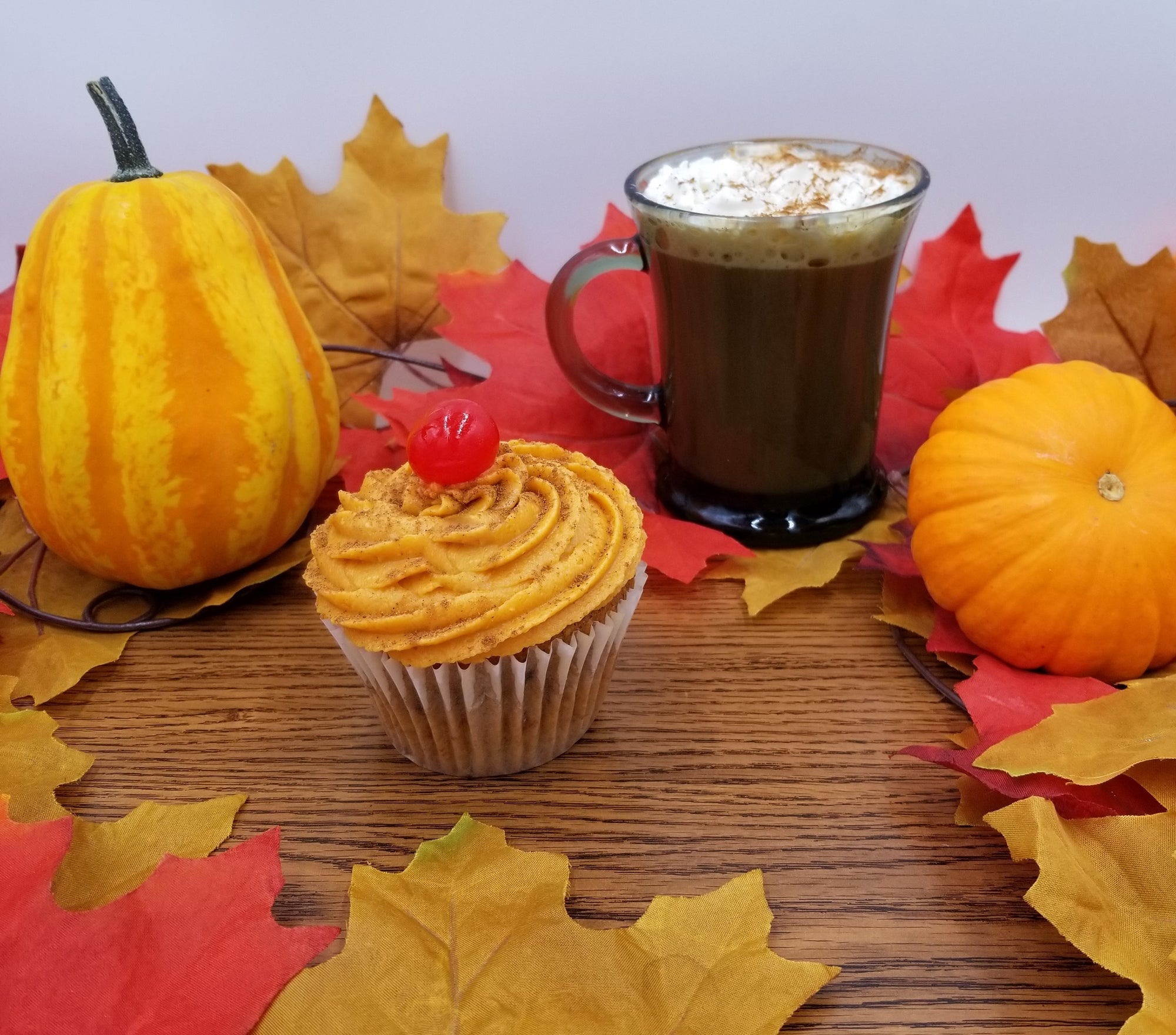spiced pumpkin latte martini product photo fall scape inebriated baker