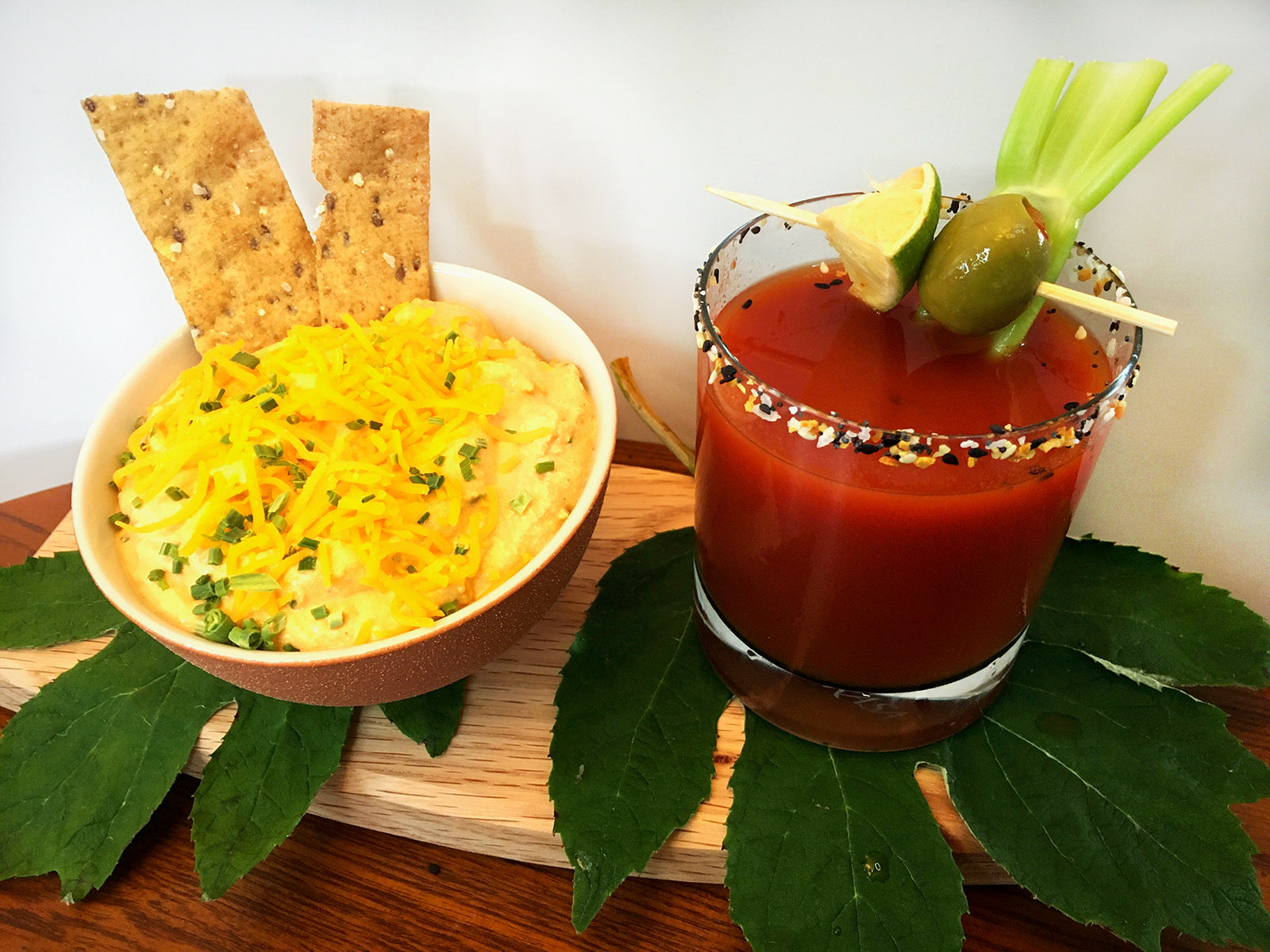 The Cheesy Blood Moon™: Zesty Moonshine Bloody Mary Cheese Spread
