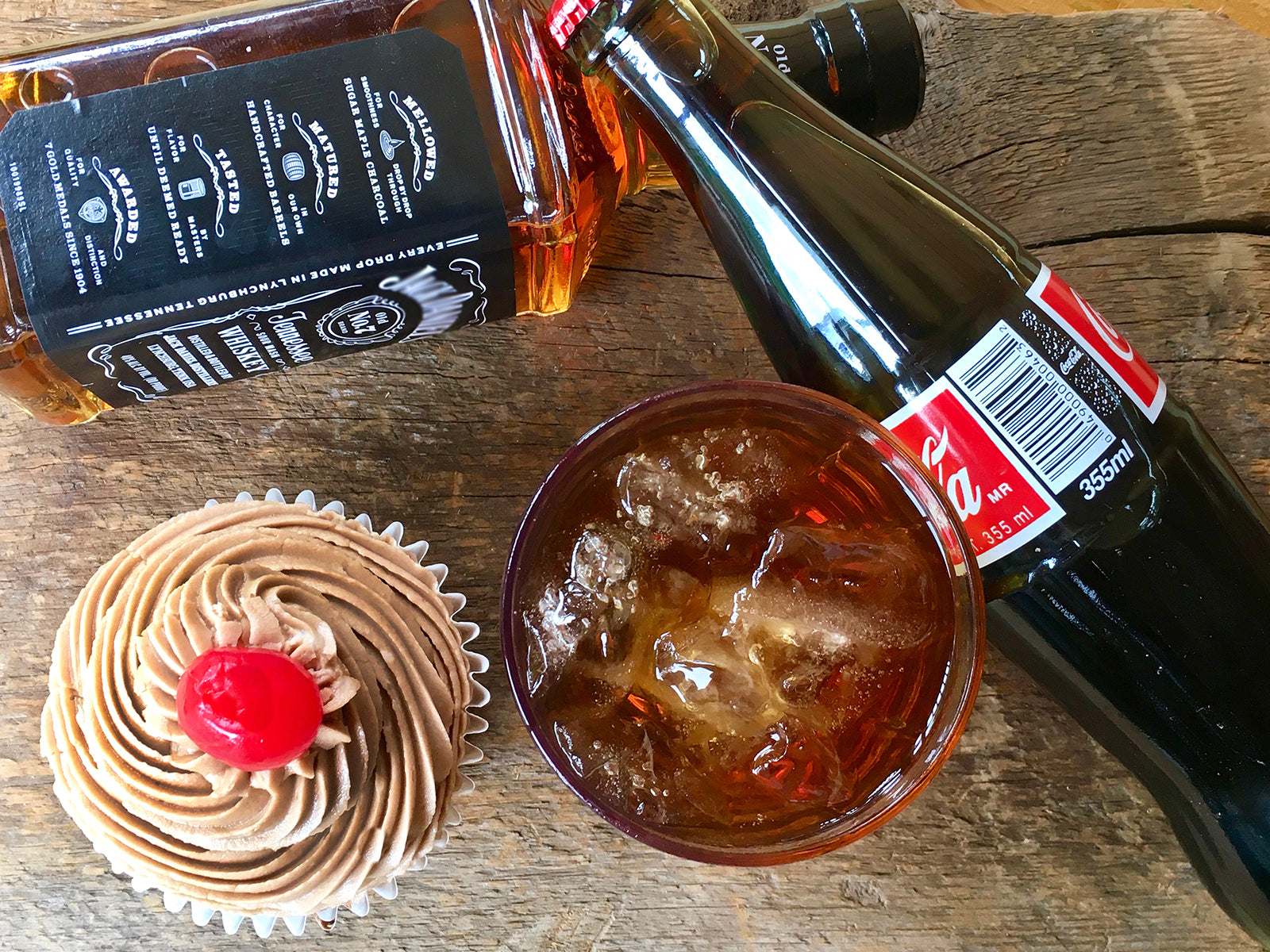 Classic Jack and Coke Cupcake