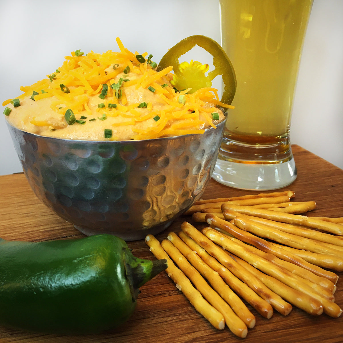 Fighting Frat Boy™: Beer & Bourbon Cheese Spread (Spicy Jalapeno)