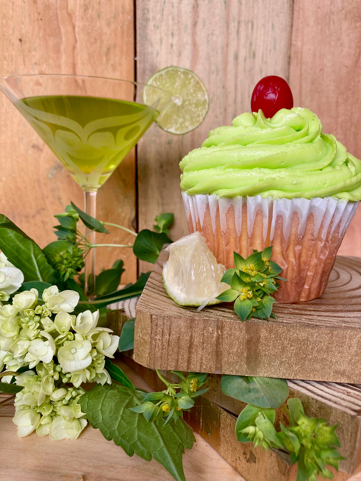 Key Lime Pie Martini Cupcake