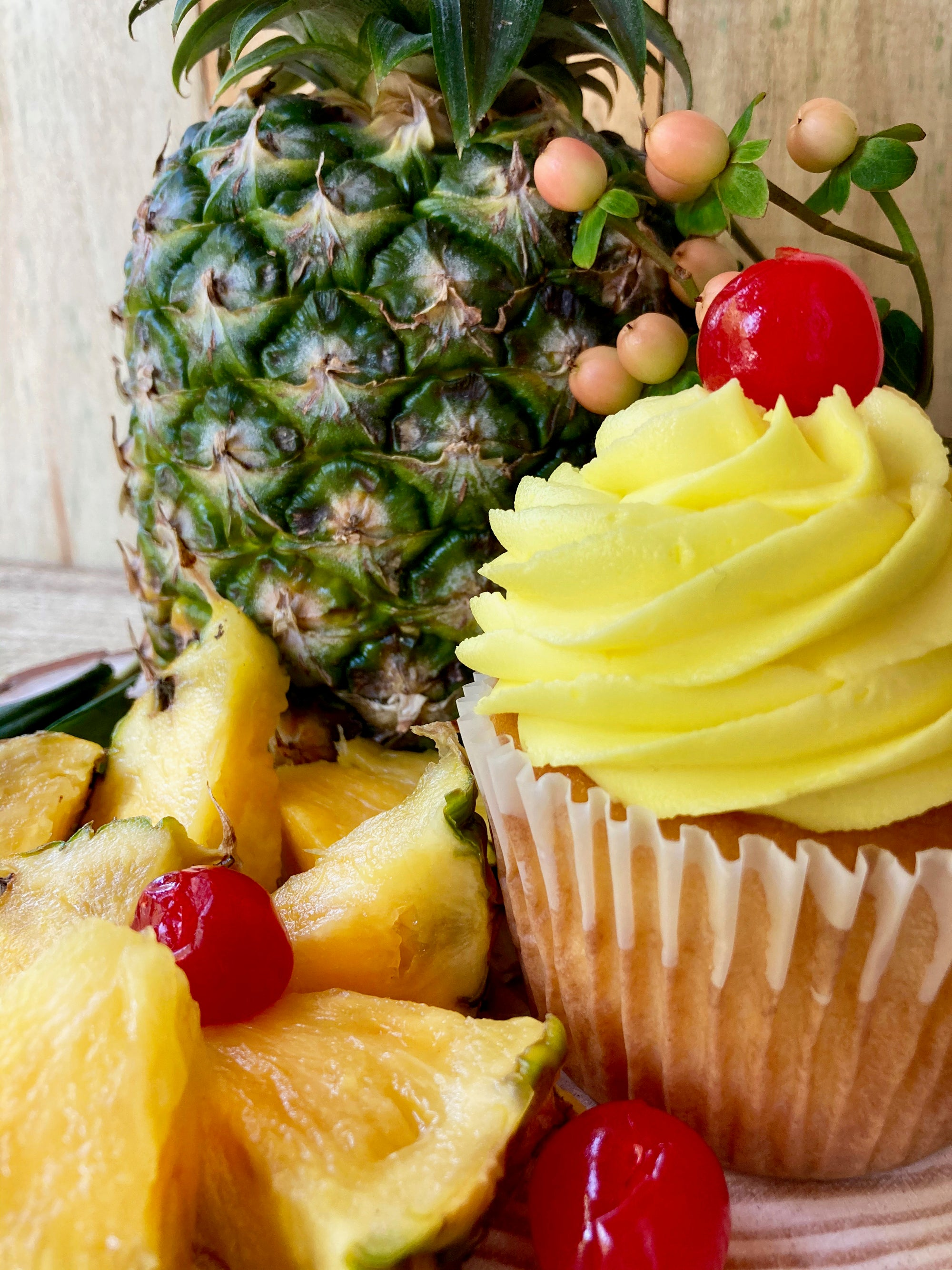 Pineapple Upside-Down Martini Cupcake