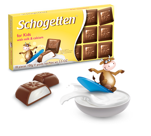Schogetten for Kids - Alpine Milk Chocolate with Milk and Calcium
