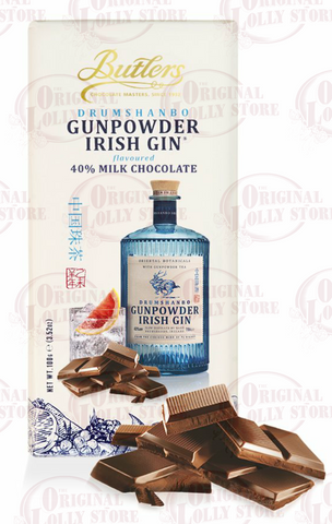 Butlers Drumshanbo Gunpowder Irish Gin® Flavoured Chocolate Bar PAST BEST BEFORE (7/5/20)