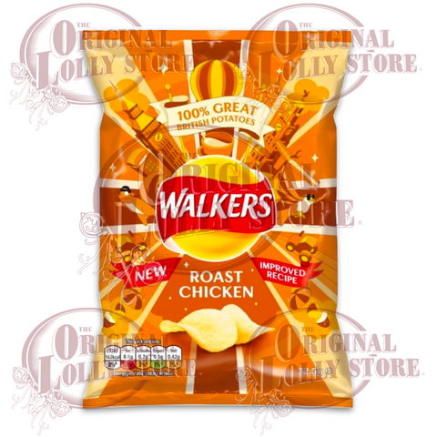 Walkers Roast Chicken Crisps 32.5g (BB 09/01/21)