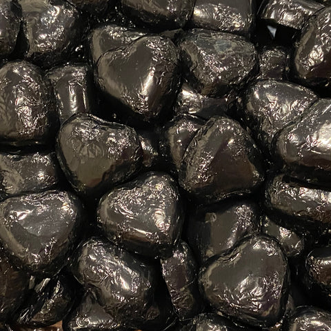 Milk Chocolate Black Foil Hearts 75g (11 units)