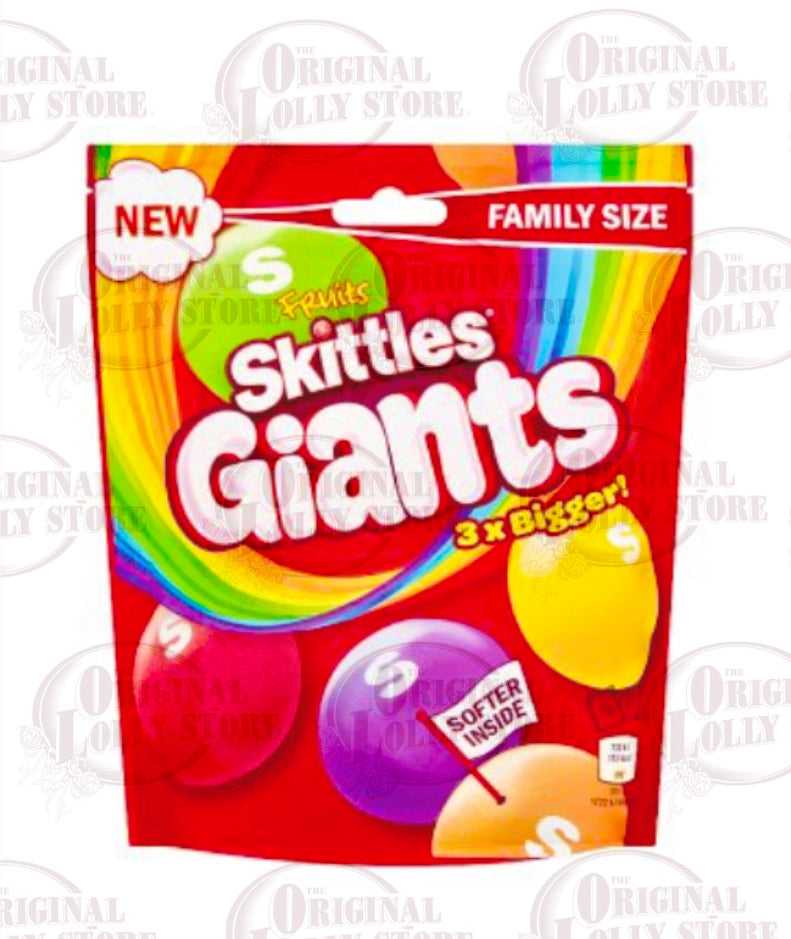 Skittles Giants Fruit Sweets Pouch Bag 170g