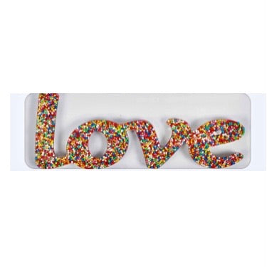 Milk Chocolate Freckle Word Love.  60g