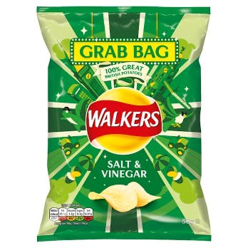 Walkers Salt & Vinegar Crisps 50g (BB 31/10/20)