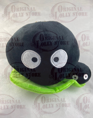 Totoro Black Travelling Soot Plush Toy Small (on leaf)