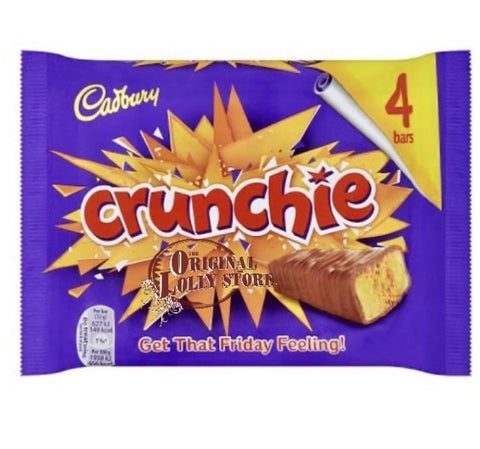Cadbury Crunchie 4 Chocolate Bars