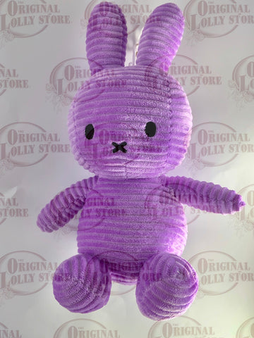 Miffy Bunny Corduroy Hanging Plush Purple