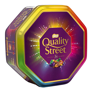 UK Nestle Quality Streets Tin 1kg