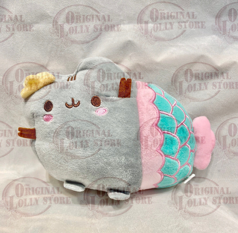 Grey cat mermaid Plush