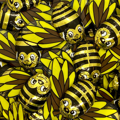 Foiled Chocolate Bees - 3pk