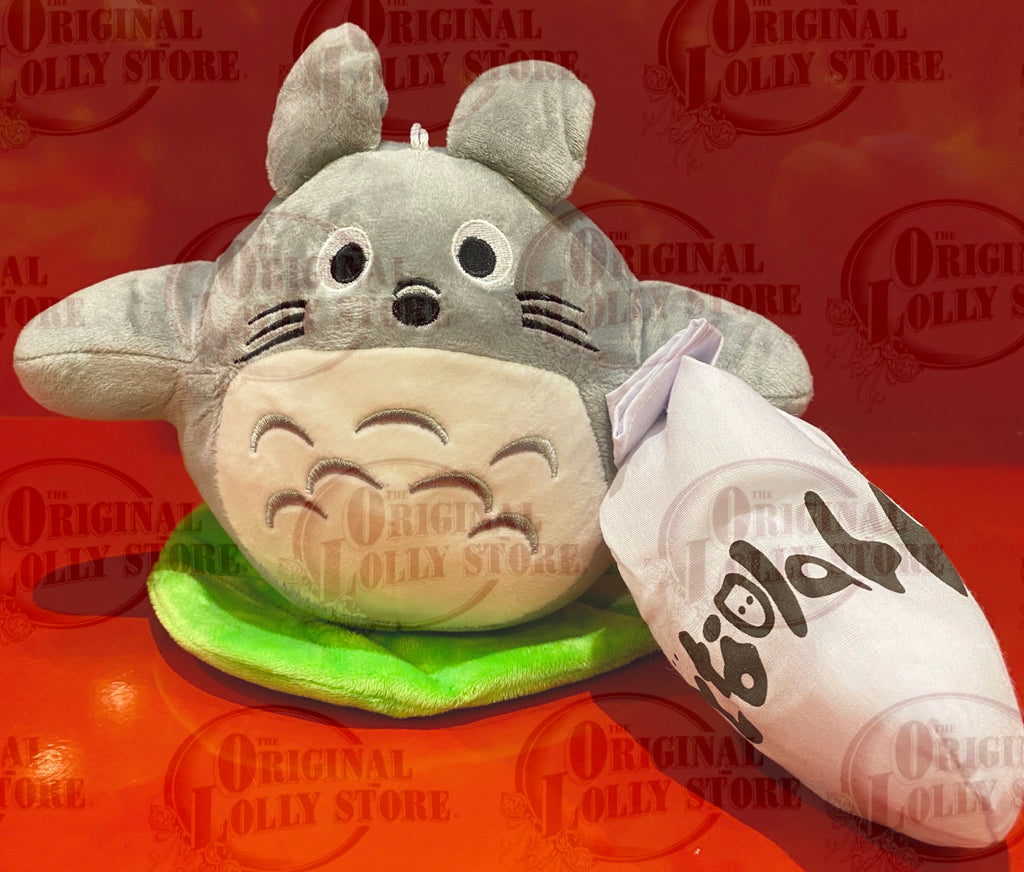 Totoro Plush Toy Small (on leaf with sack)