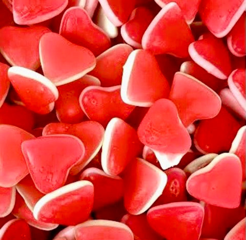 Gummy Strawberry Love Hearts
