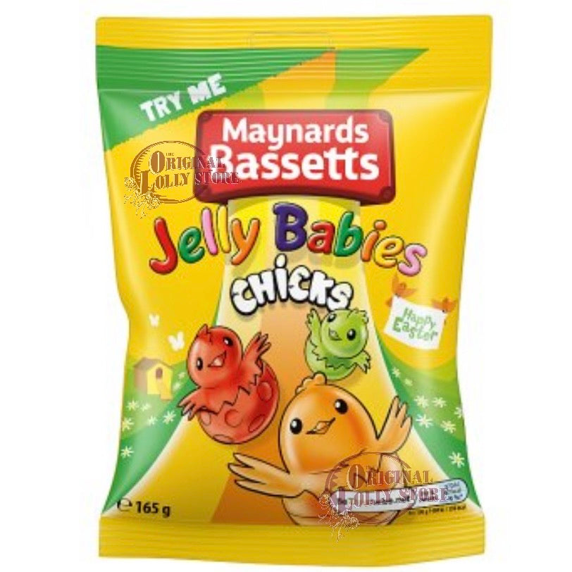 Maynards Bassetts Jelly Babies Chicks Bag 165g