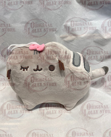Grey cat with a pink bow Plush(hanging)