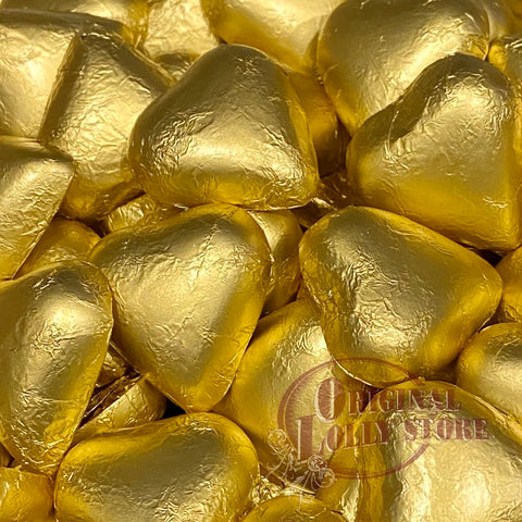 Milk Chocolate Gold Foil Hearts