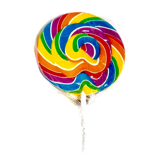 Swirly Rainbow Lollipop 50g
